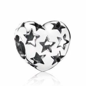 PANDORA Heart and Stars Charm